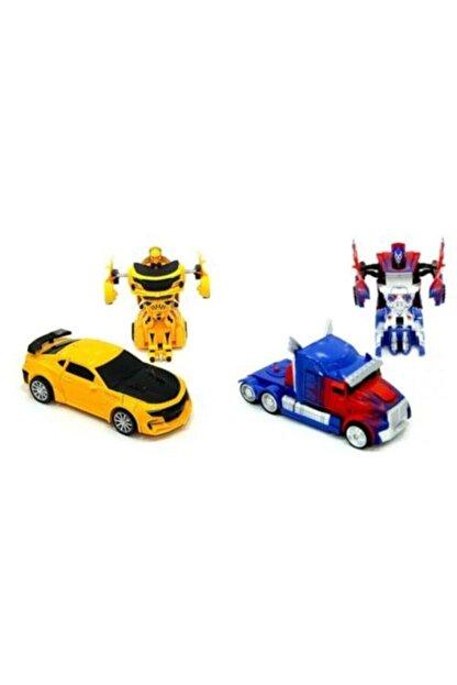 VARDEM OYUNCAK Transformers Bumblebee Optimus Prime Çek Bırak Robot Olan Oyuncak Arabalar