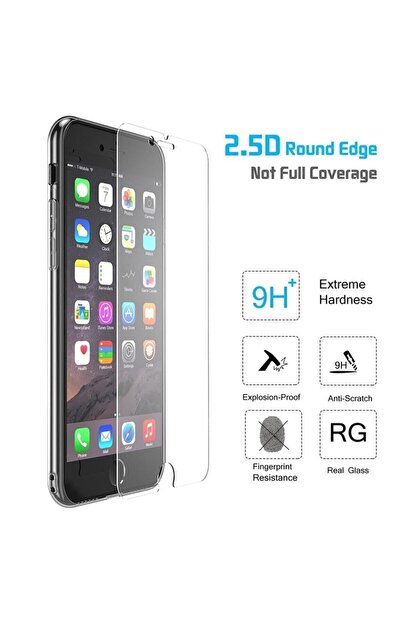 Syrox Iphone 7 Plus Ve 8 Plus Uyumlu Kırılmaz Cam Ekran Koruyucu