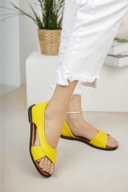 Moda Frato Kadın Sarı Babet Sandalet
