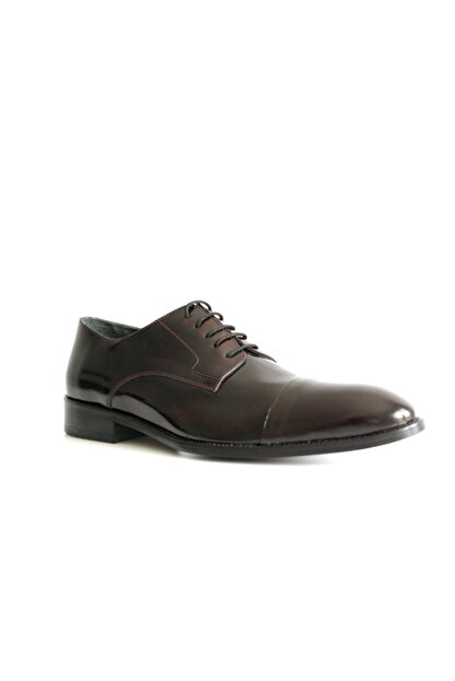 Beta Shoes Erkek Bordo League Deri Ayakkabı