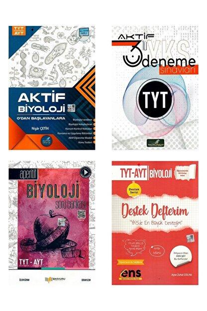 Aktif Öğrenme Yayınları Tyt Ayt Biyoloji Seti ve 3'lü Tyt Denemesi
