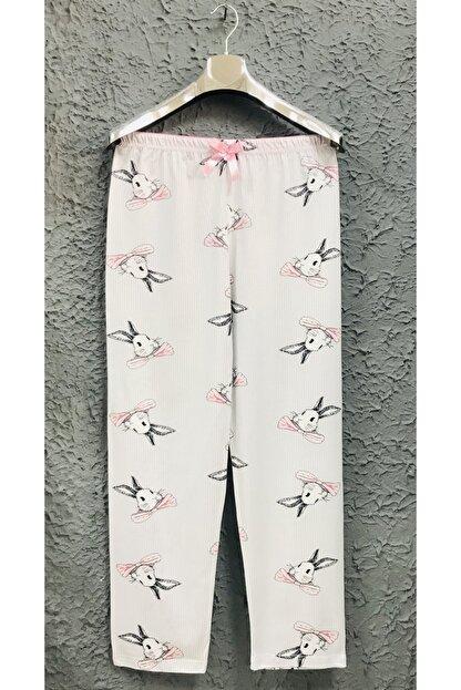 Yağmur Tekstil 1. Kalite %100 Gri Ince Kadın Tek Alt Pijama Altı