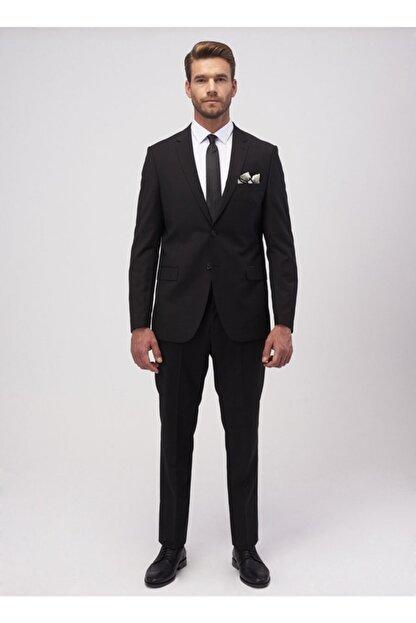 Altınyıldız Classics Erkek Slim Fit Dar Kesim Düz Siyah 8 Drop Su Geçirmez Nano Takım Elbise