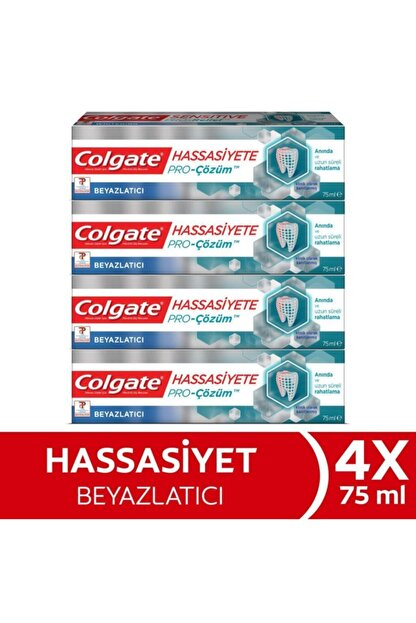 Colgate Hassasiyete Pro Çözüm Beyazlatıcı Sensitive Sensitive Pro Relief Diş Macunu 75 ml x 4 Adet