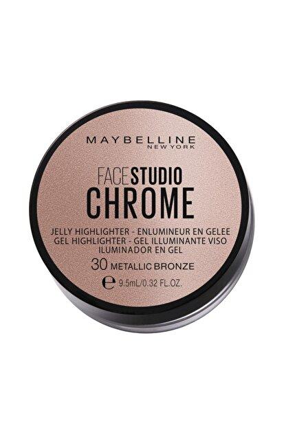 Maybelline New York Face Studıo Chrome Jel Aydınlatıcı No: 30 Metallic Bronze Delist