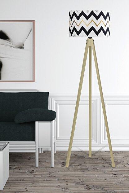 MyLightConcept Dekoratif Özel Tasarım Dijital Baskılı Yeni Trend Kumaş Lambader Naturel Ayak/mlc059