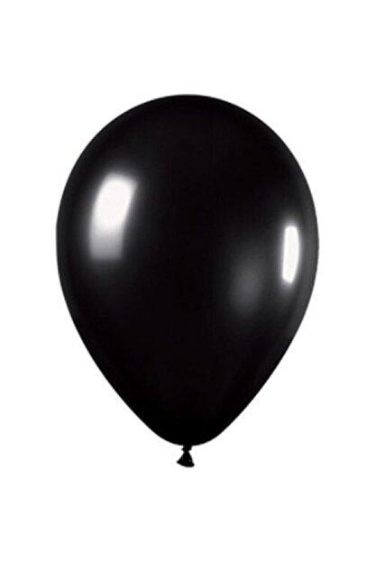 araget Metalik Latex Balon Siyah Renk 10 Adet