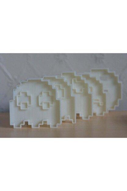 AldımGeldi 8 Bit Pacman Kurabiye Kesici Kalıbı Şeker Hamuru Oyun Hamuru Kalıbı