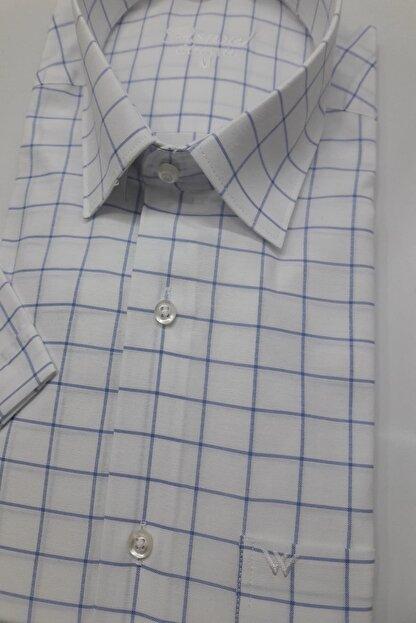 ASWEL Erkek Beyaz Kısa Kollu Cepli Gömlek