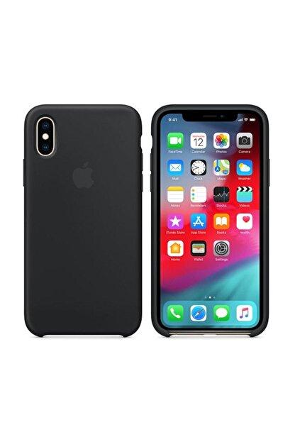 Apple Iphone Xs Max Siyah Silikon Kılıf