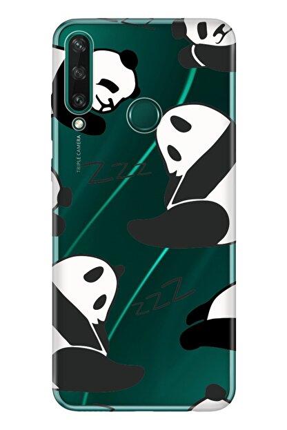 Cekuonline Huawei Y6p Kılıf Temalı Resimli Silikon Telefon Kapak  Pandalar