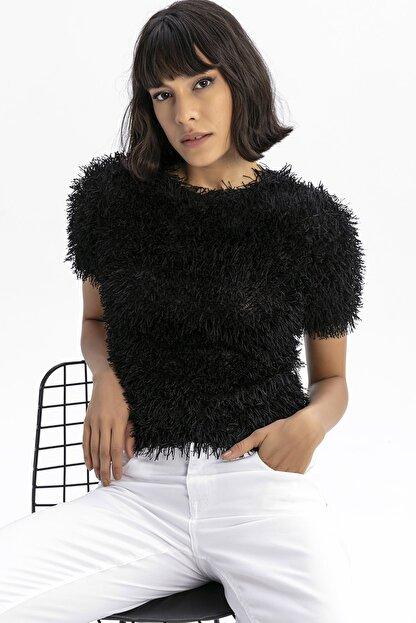modavingo Kadın Siyah Püsküllü Bluz