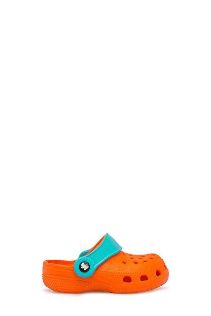 Akınalbella Unisex Turuncu Turkuaz  Sandalet E012000B