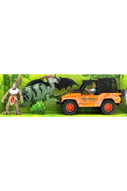 MEGA Dinozor Avcısıjeepli Oyun Seti