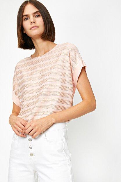 Koton Kadın Pembe T-Shirt 0YAK13167EK