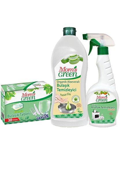 Mom's Green 3'lü Set Ekolojik Bulaşık Tableti - Aloe Veralı Elde Bulaşık Ve Mutfak Sprey