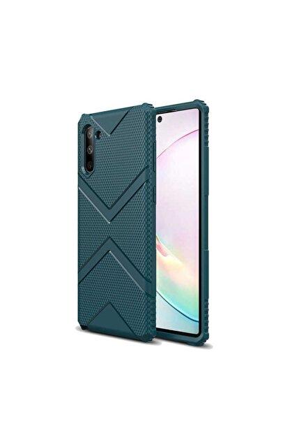 Zore Galaxy Note 10 Zore Hank Silikon Koyu Yeşil Kılıf
