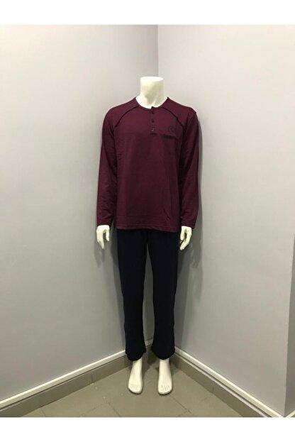 Çetin Erkek Bordo Pijama Takımı
