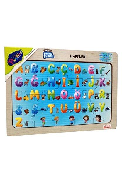 Play Wood Playwood Ahşap Eğitici Puzzle Harfler Ony-115