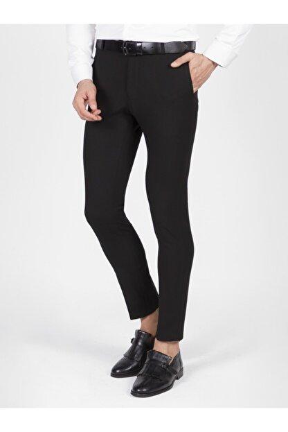 Mcr Erkek Siyah Slim Fit Kumaş Pantolon