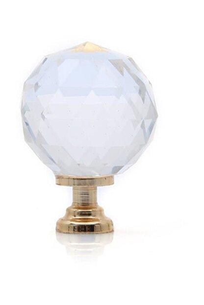 Metax Kristal Cam Mobilya Düğme Altın 30 Mm