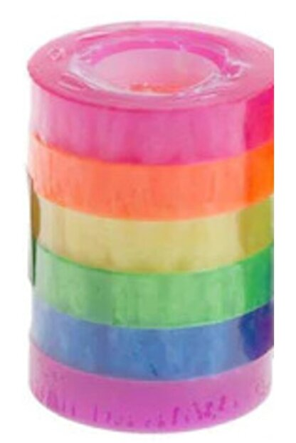 Mikro Gökkuşağı 6 Lı Renkli Bant