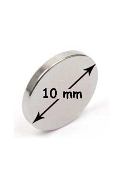 NeoHobi 10 Adet Neodyum Mıknatıs - Çok Güçlü - Çap:10m Kalınlık:1mm