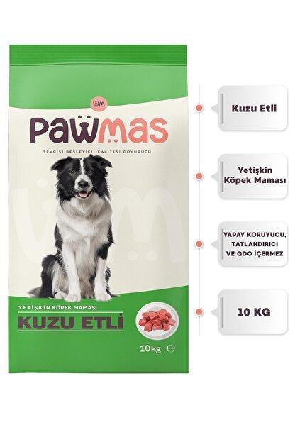 Pawmas Kuzu Etli Yetişkin Köpek Maması 10 Kg