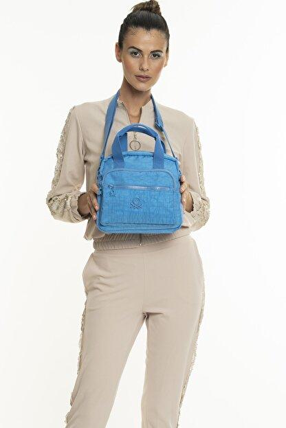 Benetton Kadın Mavi El Çantası  Bnt220