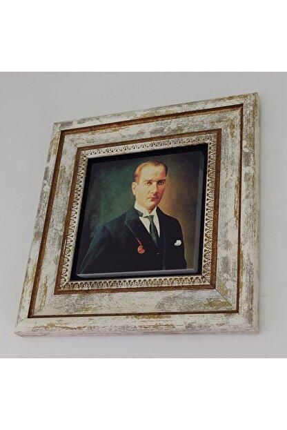 Sadrazam Gazi M. Kemal Atatürk Baskılı Doğaltaş Tablo (25*25) (sa-176)