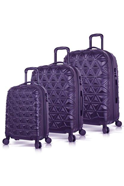 BAVYERA Unisex Lacivert Premier Abs 3lü Valiz, Bavul Seti