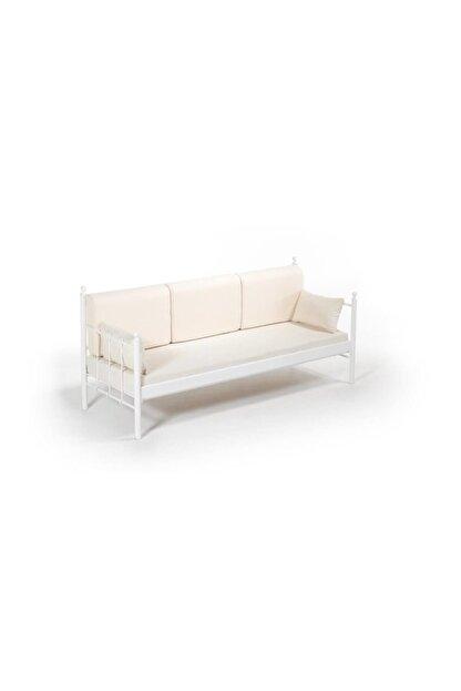 Vivense Lalas Dk Metal Sofa Sedir Beyaz 70x200cm