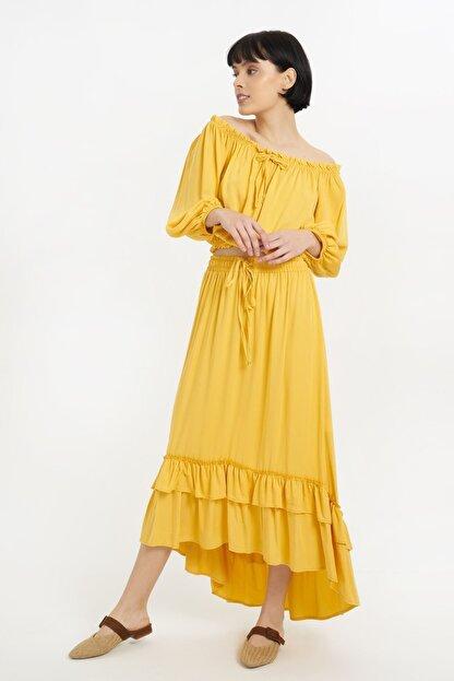 Batik Kadın Sarı Düz Etek Y10659