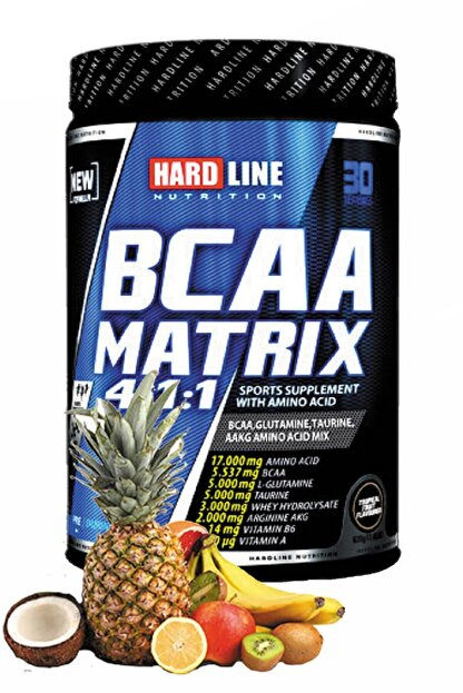 Hardline Bcaa Matrix Tropikal 630 gr Aminoasit Amino Asit Bca Taurin L Glutamin