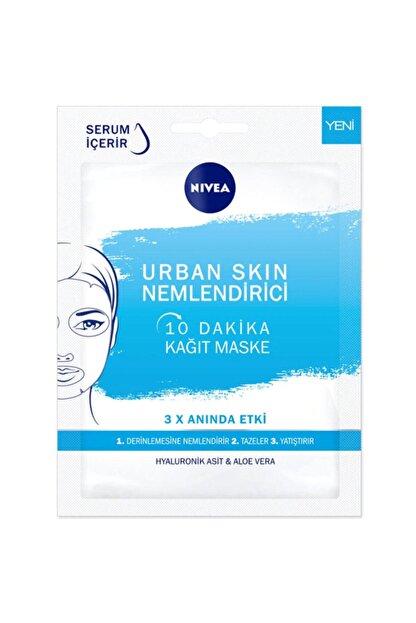 Nivea 10 Dakika Urban Skin Nemlendirici Kağıt Yüz Bakım Maskesi 28 gr