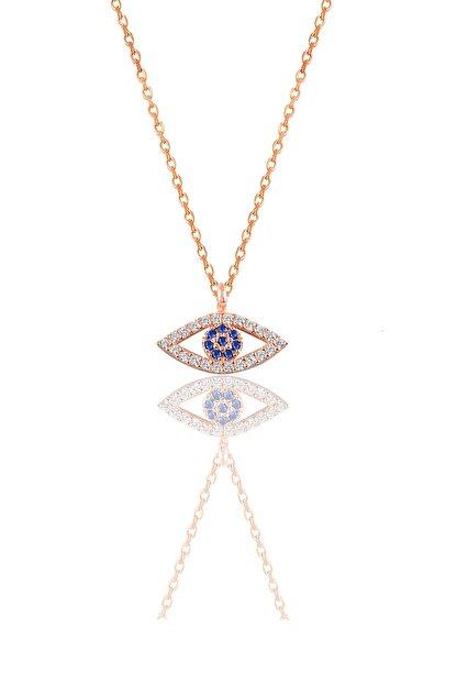 Söğütlü Silver Kadın Gümüş Göz Kolye SGTL9138