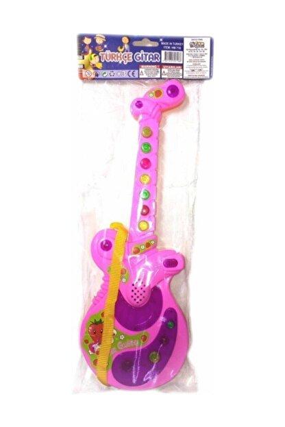CAN Sesli Işılklı Gitar . Müzikli Gitar . 35 Cm Boyunda Şık Gösterişli Gitar