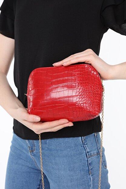 ICONE BAG Icone Kırmızı Zincirli Omuz Çantası