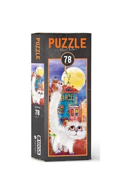 Blue Focus Focus Puzzle 78 Parça Street Cats