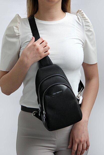 Silver Polo Sılver Polo Siyah Iki Bölmeli Kadın Bel Çantası Sp959