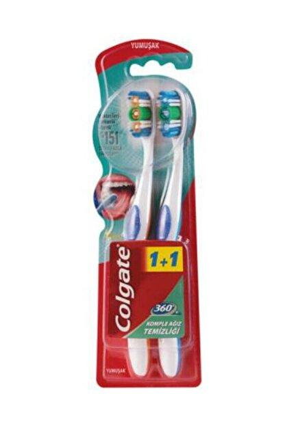 Colgate 360 Komple Ağız Temizliği Yumuşak Diş Fırçası 1+1