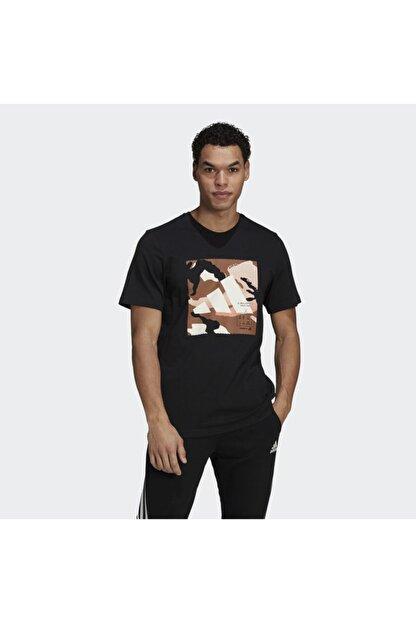 adidas Camo Bos Tee M Erkek Antrenman Tişörtü Gn6838 Siyah