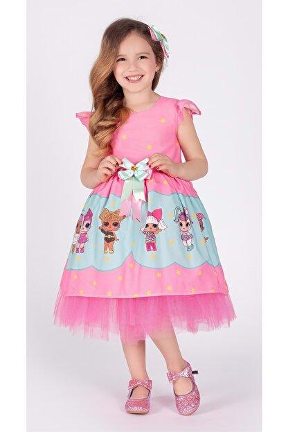 Mnk Kız Çocuk Pembe Tütülü 6 Yaş Elbise