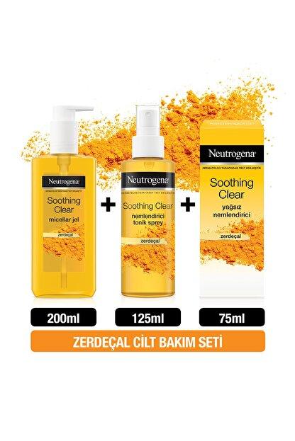 Neutrogena Soothing Clear Micellar Jel 200 ml + Tonik 125 ml + Yağsız Nemlendirici 75 ml