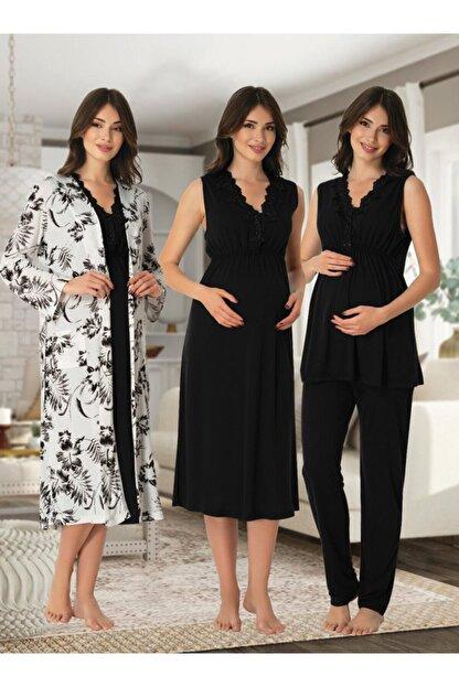 Effort Pijama E&s Collection Kadın Lohusa Hamile Set 8036