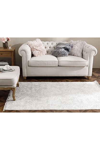 English Home Şal Desen Polyester Halı 120x180 Cm Vizon