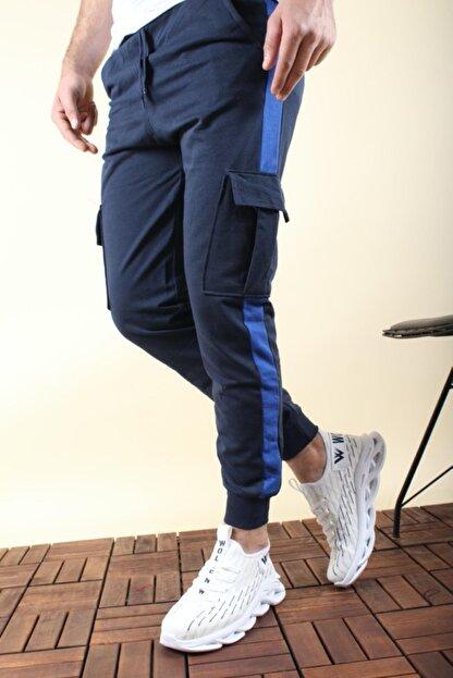 Oksit Masi 2020 Slim Fit Şeritli Kargo Cep Erkek Eşofman Altı
