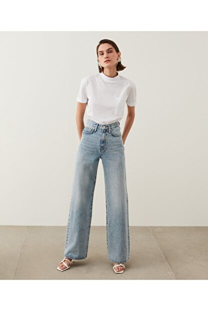 İpekyol Kadın Mavi Super High Rise Wide Leg Fit Jean Pantolon IS1210018023