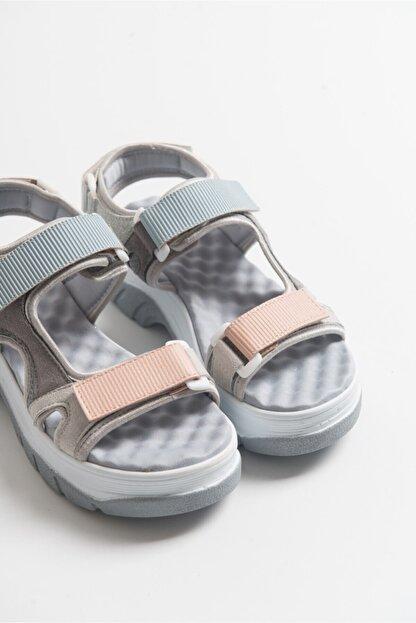 LuviShoes Kadın Buz Mavisi Bantlı Sandalet