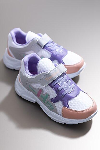 Tonny Black Beyaz Kız Çocuk Sneaker TBZ13-3